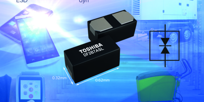 Ultra-compact bi-directional ESD protection diode for portable devices