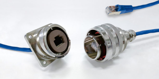 Rugged RJ45 connector system for harsh environments from Lane Electronics