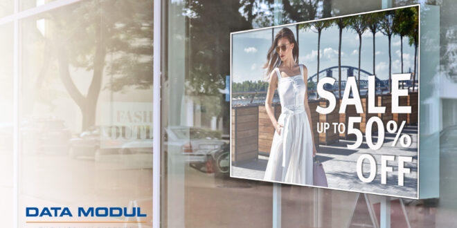 DATA MODUL presents a 21.5-inch high-brightness display for the extended temperature range