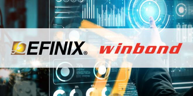 Efinix Selects Winbond HyperRAMTM for its Ti60 F100 Platform to Drive a  New Generation of Compact, Ultra-Low Power AI and IoT Devices