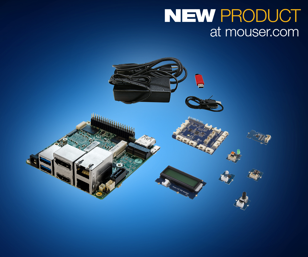 Aaeon up squared grove iot dev kit now at mouser brings