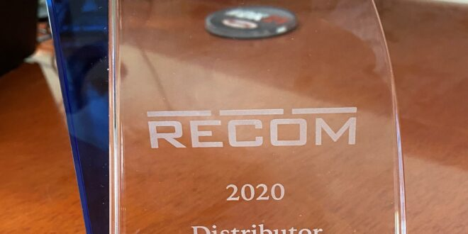 Digi-Key Electronics named Distributor of the Year by RECOM Power
