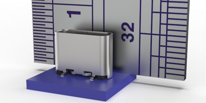 Cost-Effective ionex USB Type C Vertical Receptacle from GCT with low profile design